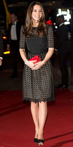 Look of the Day - December 2, 2013 - Kate Middleton in Temperley London #InStyle