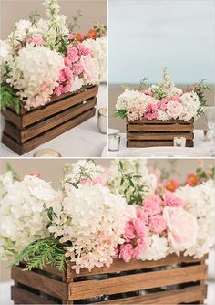 how to make rustic wedding centerpieces with paint-stirring sticks via @weddingchicks
