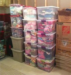 Steps on storing kids clothing for off-season.