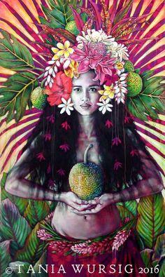 'Uru Goddess' by Tania Wursig - now at Galerie Winkler, Papeete.