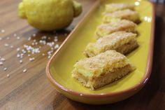 Zitronen-Kokosschnittchen