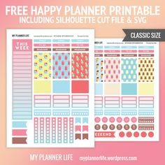 Free Printable Neapolitan Ice Cream Planner Stickers from My Planner Life Planner Writing, To Do Planner, 2017 Planner, Mini Happy Planner, Free Planner, Planner Ideas, Planner Diy, Blog Planner, Planner Organization