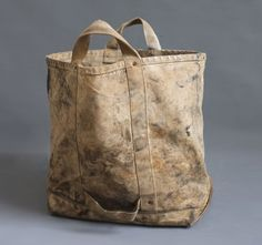 Vintage Heavy Duty Canvas Tote lineman coal bag by abrshop on Etsy