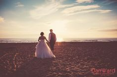 Documenting this gorgeous sunset wedding at the blue bar porthtowan wedding photography