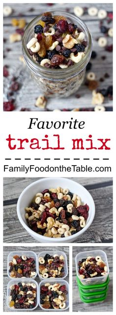 Ultimate trail mix - perfect portable snack for travel, pool days or the office!   Family Food on the Table