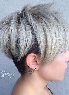 Short Hairstyles for Women with Thin/ Fine Hair: Layered Pixie Cut #thinhair…