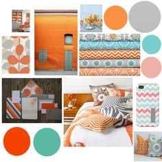 Grey Turquoise & Orange wedding inspiration