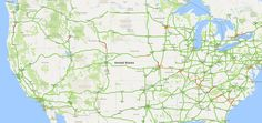 @lanewinfield: Ha! You can see the entire path of the #eclipse totality through the traffic layer on google maps (@dicktoblerone)