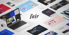 Download and review of Fair - A Fresh Multipurpose Theme for Creative Businesses & Individuals, one of the best Themeforest Creatives themes
