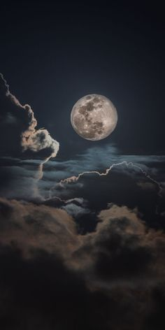 Night, clouds and moon, sky Wallpaper - moon photography Wallpaper Moon, Night Sky Wallpaper, Wallpaper Space, Iphone Background Wallpaper, Galaxy Wallpaper, Nature Wallpaper, Wallpaper Wallpapers, Night Clouds, Night Skies