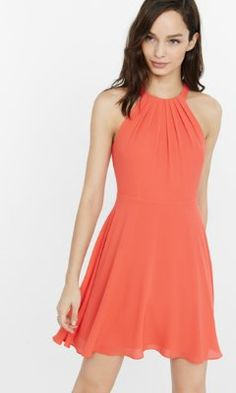 Gala dress - halter fit and flare dress from EXPRESS