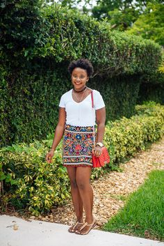 embroidered skirt, Summer Outfit, Fashion Style, Mini skirt, Zara, Street Styles, Women, Natural hair blogger