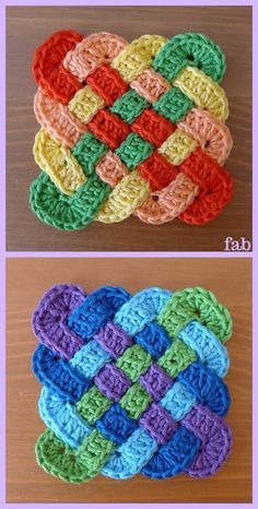 How to Crochet a Solid Granny Square - Crochet Ideas Crochet Celtic Knot Square. How to Crochet a Solid Granny Square – Crochet Ideas Crochet Celtic Knot Square Free Pattern Crochet Potholder Patterns, Granny Square Crochet Pattern, Crochet Squares, Crochet Motif, Crochet Designs, Easy Crochet, Crochet Granny, Granny Squares, Crochet Stitches