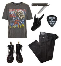 """Iron Maiden"" by nannva ❤ liked on Polyvore featuring And Finally, BRAX, Dr. Martens, Toast and Thelermont Hupton"