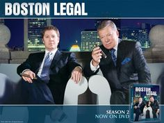 Boston Legal - James Spader (Alan Shore) & William Shatner (Denny Crane). ***** ❤️❤️this show!