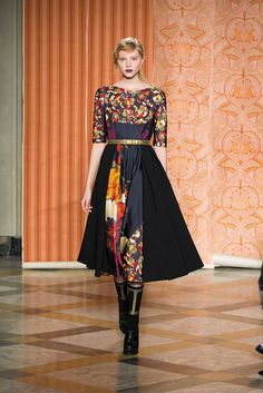 Fall Winter 13-14 Fashion Show ~ love the dressy longer full skirt with boots.