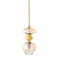 £183  Create a dreamlike setting with this Futura Pendant Lamp from Ebb & Flow. In an elegant golden smoke shade, its curved shape is achieved through a moutblowing process and it features a metallic middle