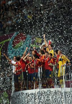 Again and again, the Euro Cup 2012 Champion team Spain