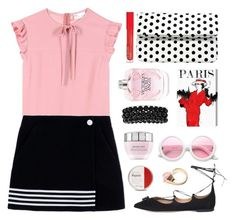 """""""Paris Café"""" by celida-loves-pink ❤ liked on Polyvore featuring Lancôme, Salvatore Ferragamo, RED Valentino, Gucci, ZeroUV, La Regale, Paco Rabanne, Oliver Gal Artist Co., Bling Jewelry and Victoria's Secret"""
