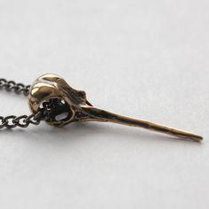 hummingbird skull necklace