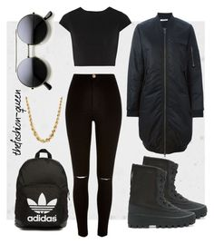 Untitled #47 by thefashion-queen on Polyvore featuring polyvore fashion style Alice + Olivia 6397 River Island adidas Originals clothing