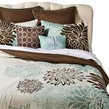brown and blue bedding - Google Search