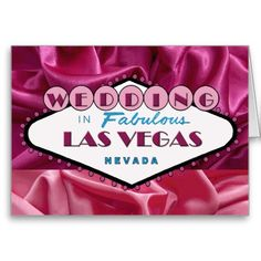 WEDDING IN FABULOUS LAS VEGAS SATIN CARD