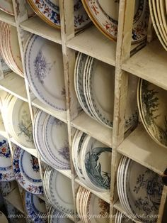 Shopping in Paris - searching for vintage dishes - via Little White Home by Nadine