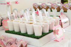 Enchanted Garden themed birthday party with Such Cute Ideas via Kara's Party Ideas KaraspartyIdeas.com #gardenparty #butterflyparty #gardenp...