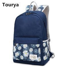 3ccd7aba9a25 Tourya Casual Bag School Backpack Floral Canvas For Teenagers Girl School Bags  Women Mochila Feminina Shoulder Female Rucksack - Fatekey