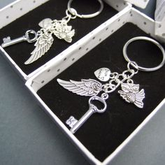 Best Friends angel wings key chains for Friends or by madebypepper, $28.00