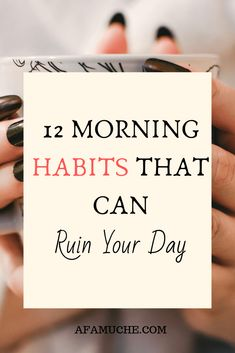 There is enormous power in nailing your morning routine as well as outlining unproductive habits that can hinder your productivity and achievement level. Healthy Morning Routine, Morning Habits, Morning Routines, Daily Routines, Healthy Lifestyle Habits, Healthy Habits, Physical Stress, Self Care Activities, Family Activities