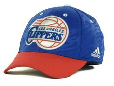 """Los Angeles Clippers NBA Adidas """"Courtside 2 Tone"""" Stretch Fitted Hat New #adidas #LosAngelesClippers"""