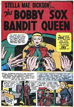 "Headline #27 (November 1947) ""The Bobby Sox Bandit Queen"", pencils and inks by Jack Kirby"