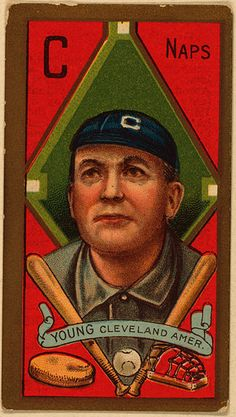 Cy Young baseball card - c. 1911. From when baseball cards were portraits, not photos.