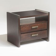 WOODEN NIGHTSTAND WITH TWO DRAWERS | The perfect nightstand for either modern and classic master bedrooms | www.bocadolobo.com #bedroomdesign #bedroomfurniture
