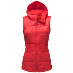The North Face Women's Pseudio Hooded Vest (Size: Large) ($69) ❤ liked on Polyvore featuring activewear and the north face