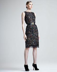Oscar de la Renta | Jeweled Lace Dress