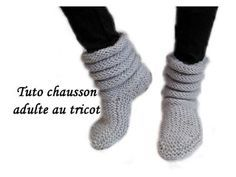 Bonnet homme torsades tricot / Beanie for man easy knit Crochet Boots, Knit Or Crochet, Easy Crochet, Crochet Baby, Knitted Slippers, Slipper Socks, Knitted Bags, Knitting Videos, Easy Knitting