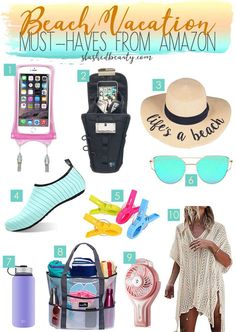 Going on a beach trip? Add these beach vacation mu Beach Vacation Packing List, Beach Vacation Outfits, Packing List For Travel, Packing Tips, Beach Trip Tips, Beach Vacations, Vacation Spots, Beach Hacks, Travel Checklist