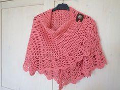 Diy Crafts - Ravelry: Project Gallery for All Shawl pattern by Doris Chan Crochet Bolero, Crochet Cape, Crochet Shawls And Wraps, Knitted Shawls, Crochet Scarves, Crochet Clothes, Crochet Hooks, Knit Crochet, Crochet Pattern
