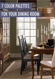 Your Dining Room Is A Great Place To Try Out A New, Sophisticated Color  Schemeu2014like These 7 Hand Picked Color Palettes. Balanced With Unique  Furniture ...
