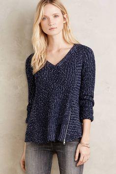Zipped Stitch Pullover - anthropologie.com