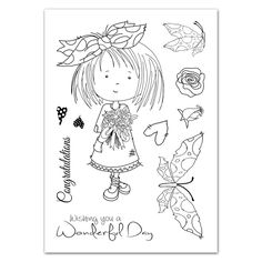 Tattered Lace - Tatty Twinkle clear stamps - Flowers,$8.99