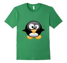 Men's Penguin T-Shirt Linux Comic Figure  2XL Grass