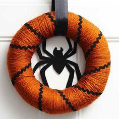 Orange and Black Spider Wreath