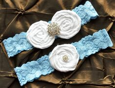 Wedding Garter Set, $26.00, via Etsy.