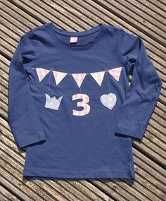 Geburtstags-Shirt zum 3. Geburtstag von Nordisch by Nina                auf DaWanda.com