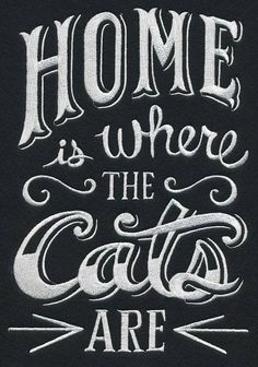 RQQ™ Cat Pet home is where the Cats are fabric embroidered quilt block and like OMG! get some yourself some pawtastic adorable cat shirts, cat socks, and other cat apparel by tapping the pi Crazy Cat Lady, Crazy Cats, I Love Cats, Cool Cats, Cat Signs, Cat Room, Cat People, Cat Quotes, All About Cats