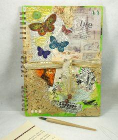 Large A4 Handmade Scrapbook Album or Journal - Butterflies £12.80